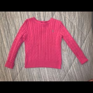 Pink girls Polo Sweater